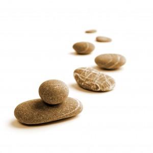 Snaking Line of Stones