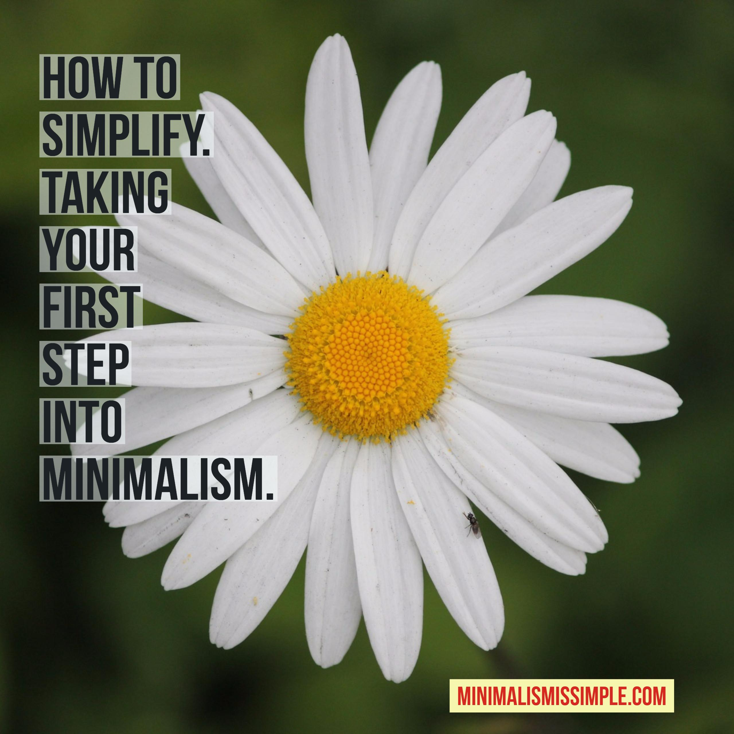 how to simplify your life. taking the first steps toward a minimalist lifestyle. minimalismissimple