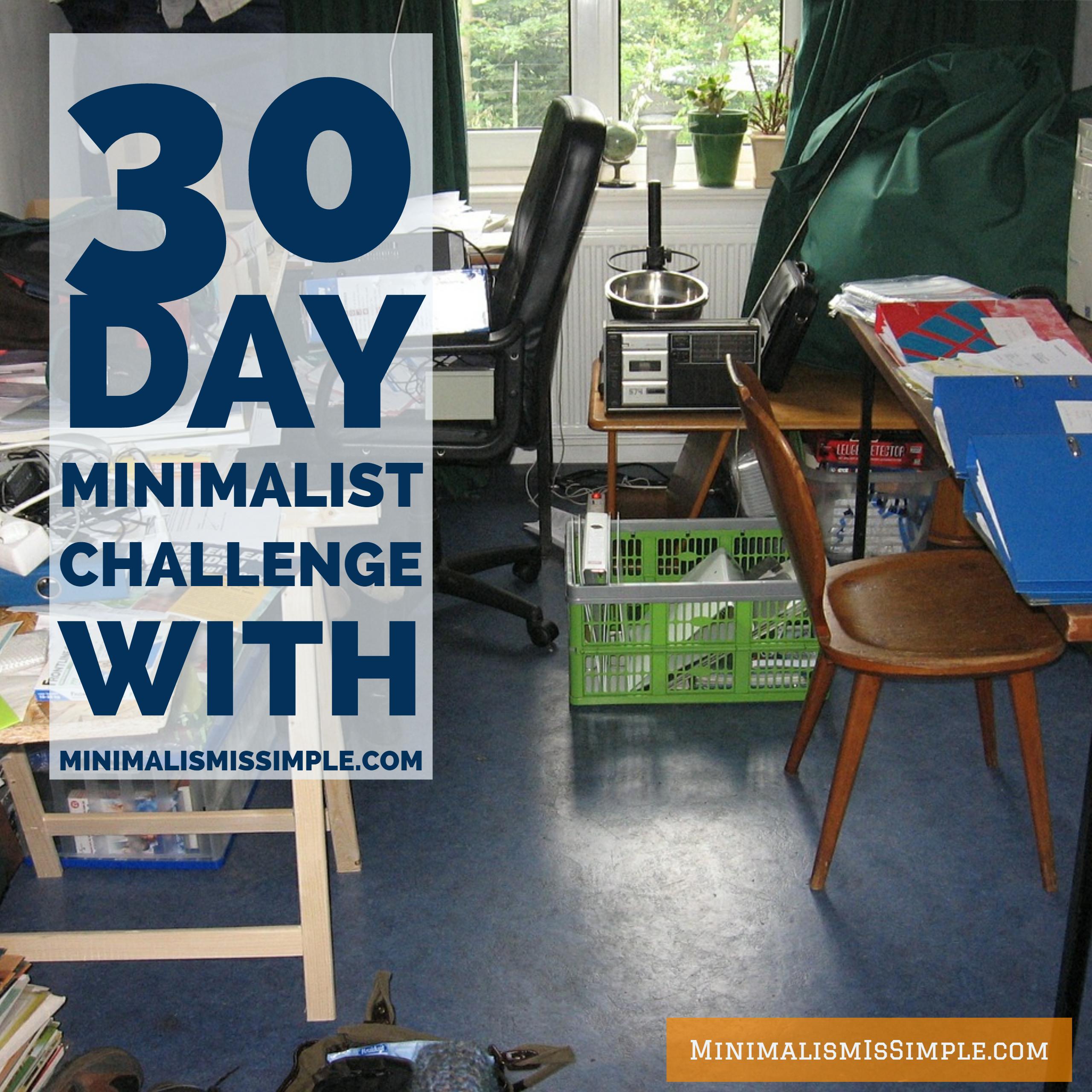 30 day challenge with minimalismissimple