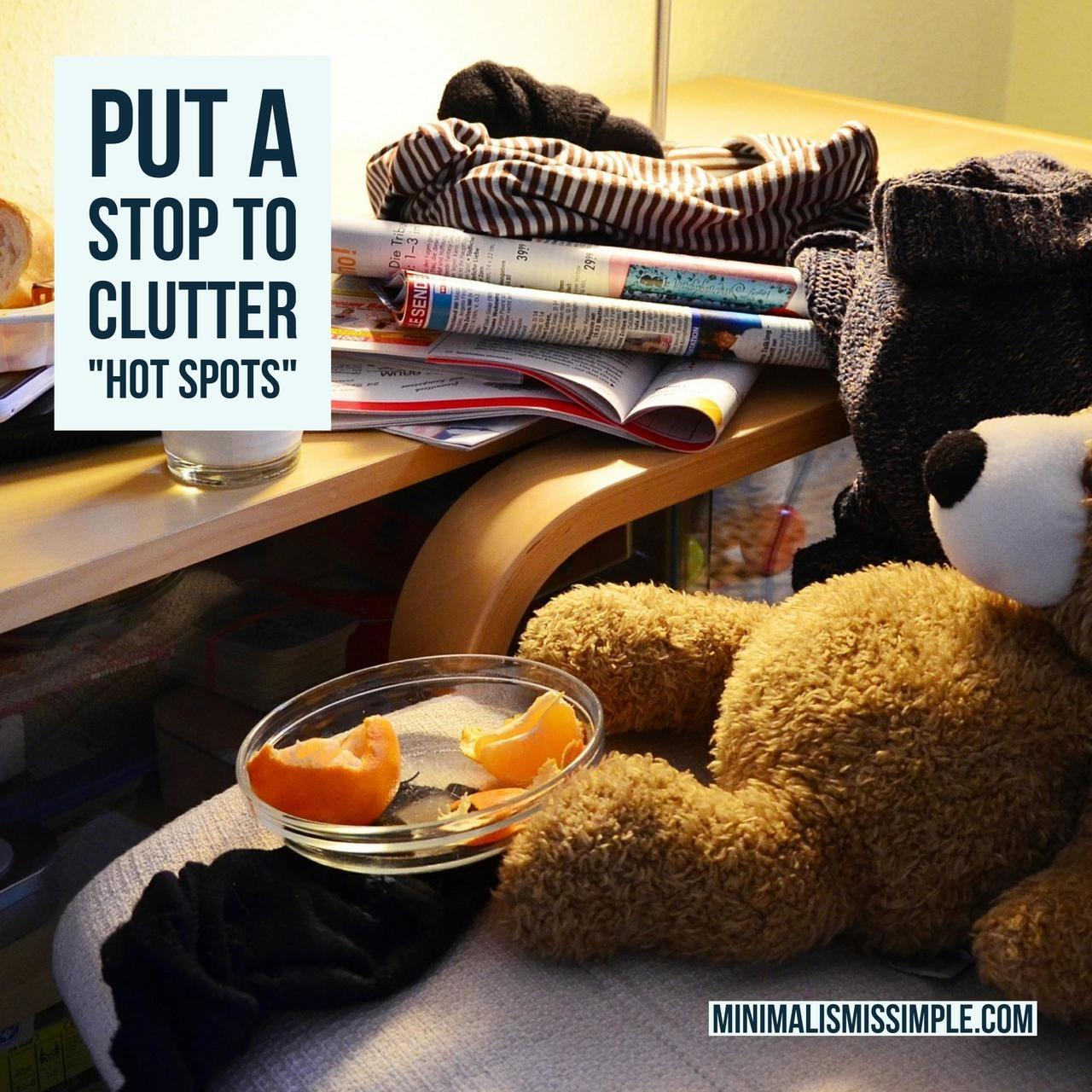 clutter hot spots minimalismissimple.com