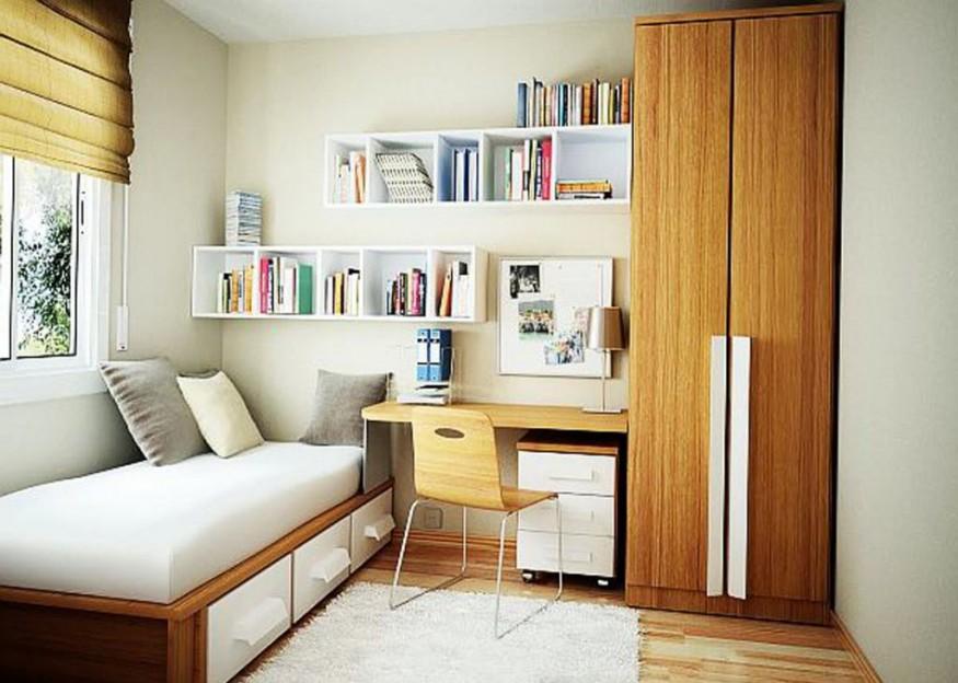 habitación minimalista adolescentes