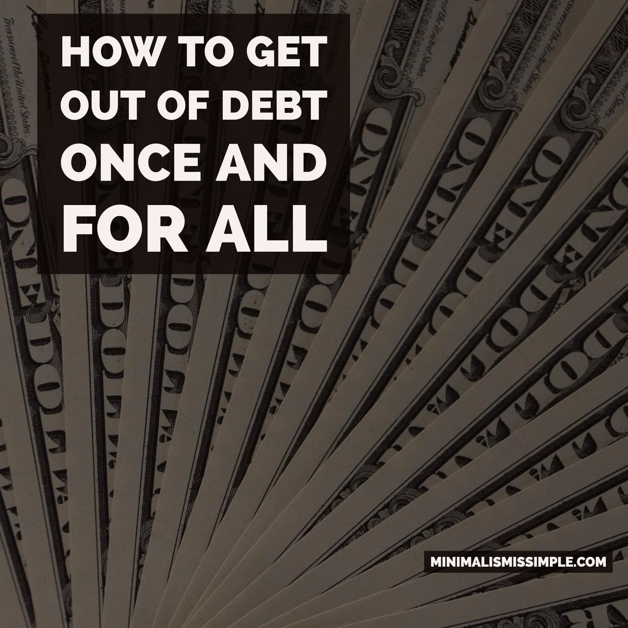how to get out of debt mis