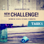 New Challenge! 10 for 10: Decluttering Tasks You Can Tackle in the Morning
