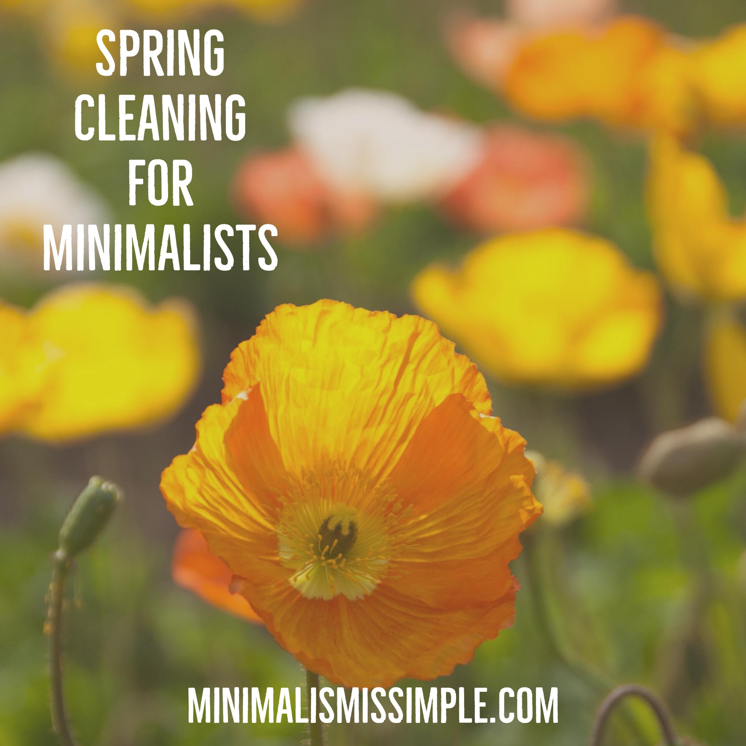 spring cleaning for minimalists minimalismissimple.com